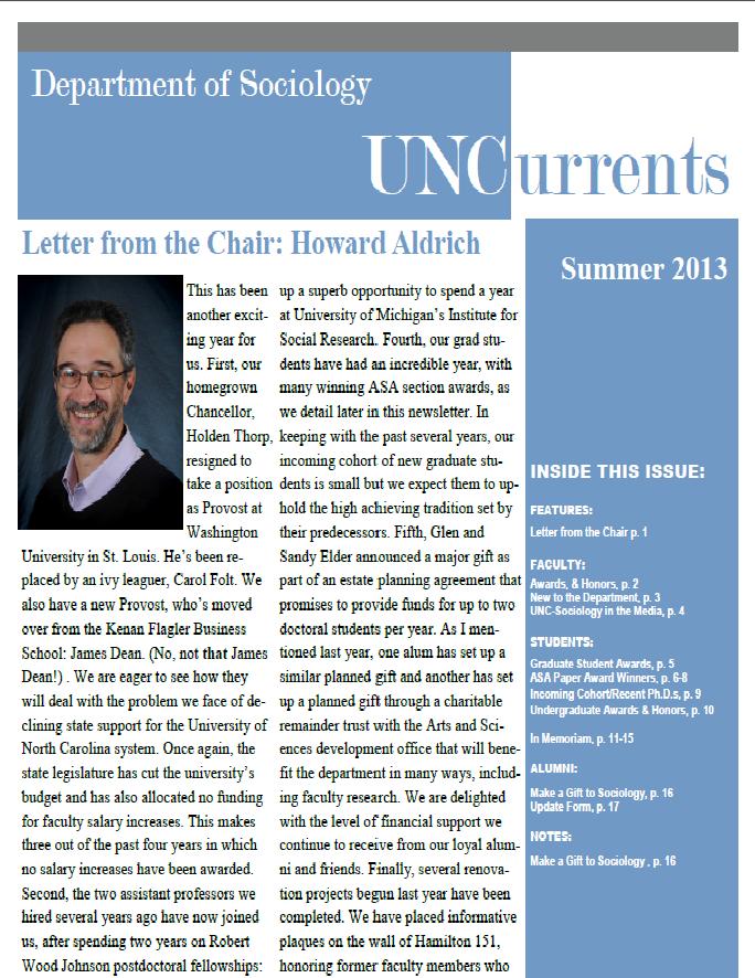 2012-2013 newsletter